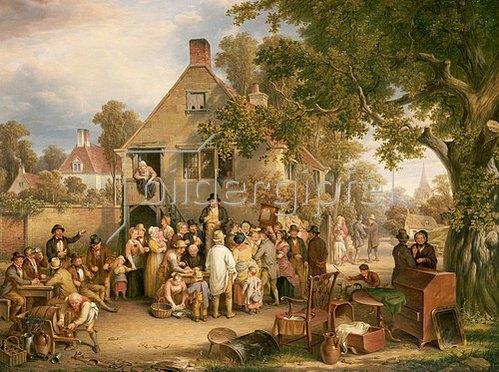 Edwin Cockburn: Eine Auktion auf dem Dorfe. 1853