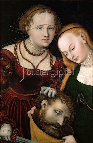 Lucas Cranach d.Ä.: Judith mit dem Haupt des Holofernes und einer Dienerin. Nach 1537