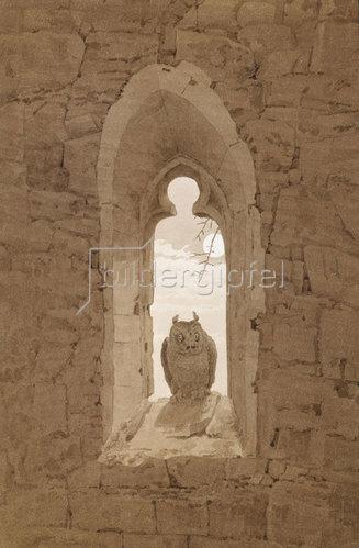 Caspar David Friedrich: Die Eule im gotischen Fenster. Um 1836
