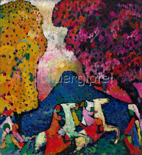 Wassily Kandinsky: Der blaue Berg. 1908-09