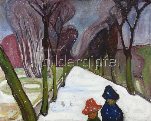 Edvard Munch: Allee im Schneegestöber. 1906