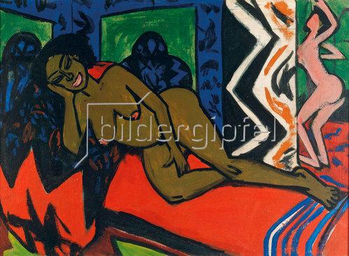 Ernst Ludwig Kirchner: Schlafende Milli. 1911.