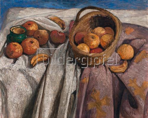 Paula Modersohn-Becker: Stillleben mit Äpfeln und Bananen. 1905.