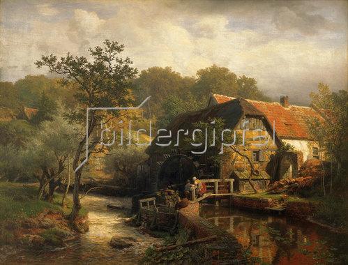 Andreas Achenbach: Westfälische Wassermühle. 1863.