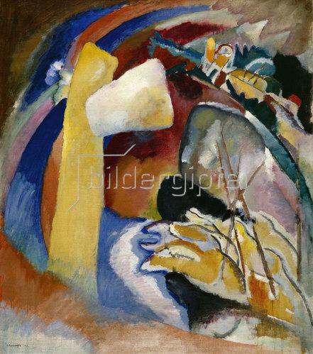 Wassily Kandinsky: Entwurf zu Bild mit weißer Form. 1913