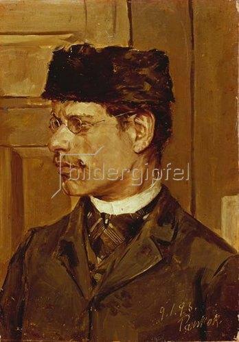 Bernhard Pankok: Selbstbildnis. 1893.