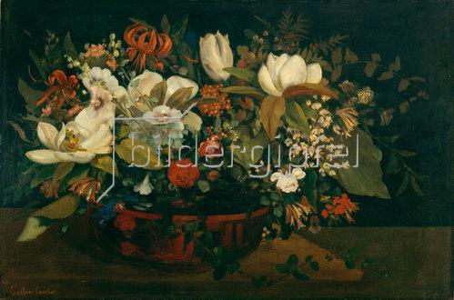 Gustave Courbet: Blumenschale (Magnolien). 1862.