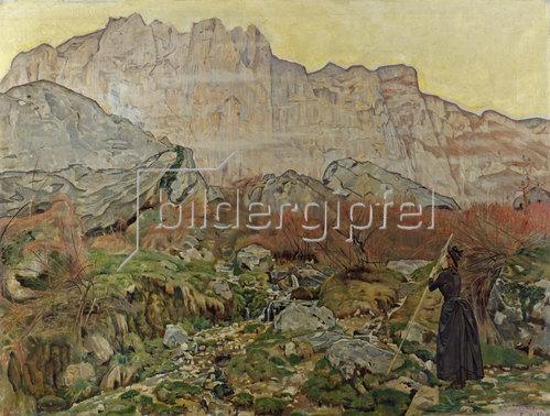 Ferdinand Hodler: La Vision (Gebirgslandschaft). 1889.