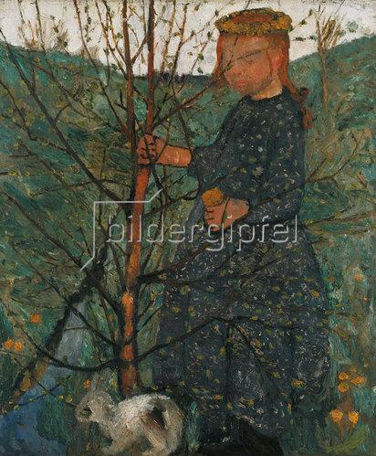 Paula Modersohn-Becker: Bauernkind mit Kaninchen. Um 1903.