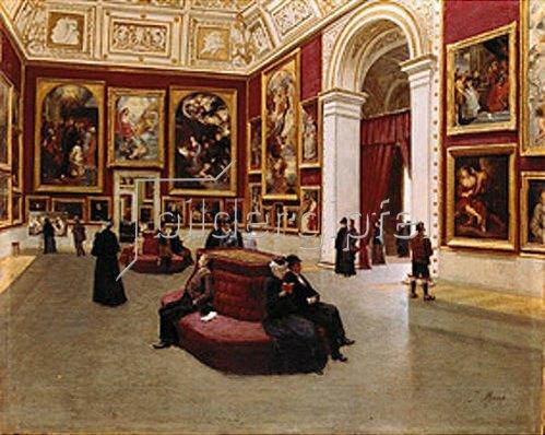 Johann Lorenz Maaß: Der Rubenssaal in der Alten Pinakothek München.