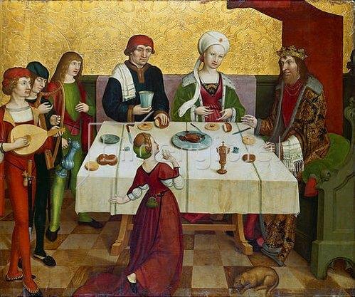 Berner Meister: Das Gastmahl des Herodes.