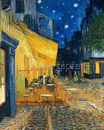 Vincent van Gogh: Café-Terrasse am Abend (Le Café, le soir). 1888