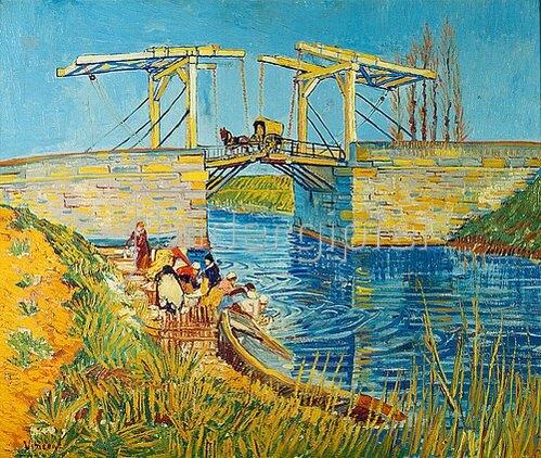 Vincent van Gogh: Zugbrücke in Arles (Le Pont de Langlois). 1888