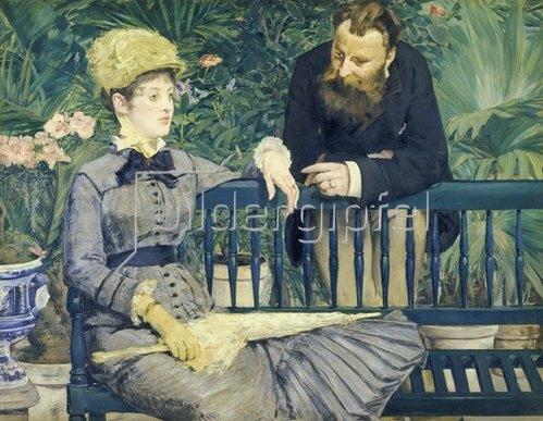 Edouard Manet: Das Ehepaar Guillemet im Gewächshaus. 1879