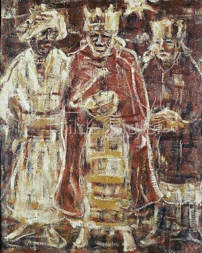 Christian Rohlfs: Die heiligen drei Könige. 1928.