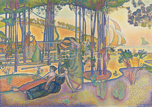 Henri Edmond Cross: Abendluft (L'Air du soir). Um 1893-94