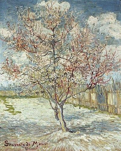Vincent van Gogh: Blühende Pfirsichbäume (Souvenir de Mauve). 1888.