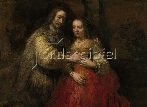 Rembrandt van Rijn: Isaak und Rebekka, Die Judenbraut. Um 1665-69
