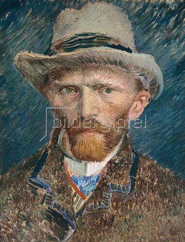 Vincent van Gogh: Selbstbildnis mit grauem Filzhut. 1887.
