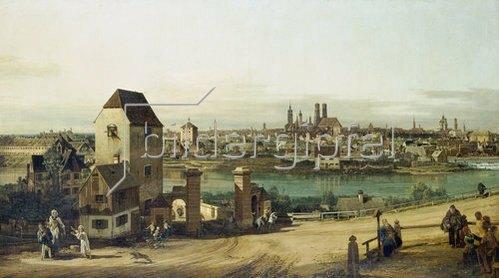 Bernardo (Canaletto) Bellotto: München, von Haidhausen aus gesehen. Um 1761