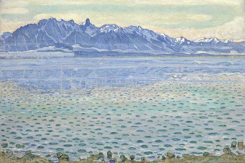 Ferdinand Hodler: Thunersee mit Stockhornkette. 1904