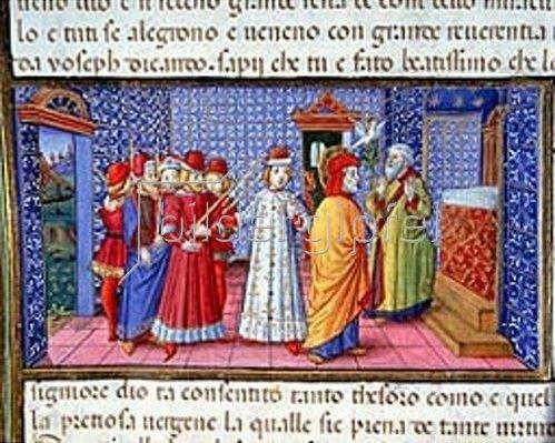 Cristoforo de Predis: Joseph, auserwählter Mann Mariae.  1476