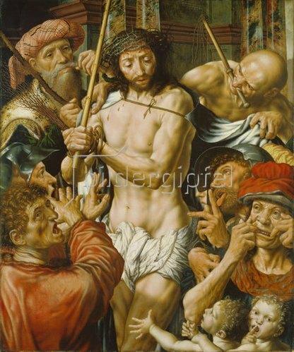 Jan Sanders van Hemessen: Die Verspottung Christi. 1544.