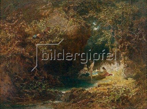 Carl Spitzweg: Badende Nymphen.