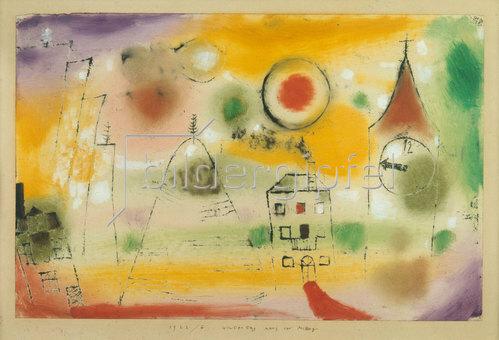 Paul Klee: Wintertag, kurz vor Mittag. 1922.