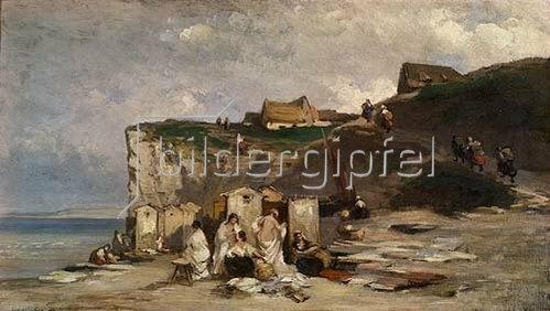 Carl Spitzweg: Frauenbad in Dieppe II. Um 1857