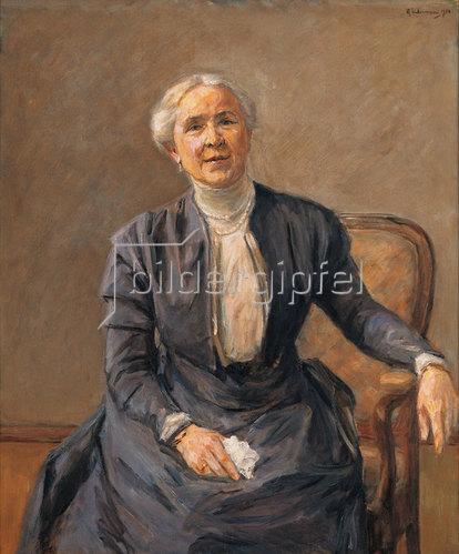 Max Liebermann: Bildnis Frau Adele Wolde. 1910.