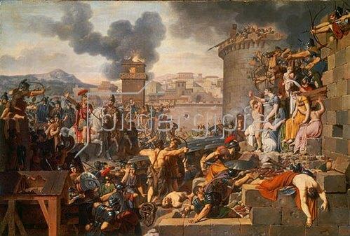 Armand Charles Caraffe: Die Belagerung einer Stadt durch Metellus. Entstanden 1805.