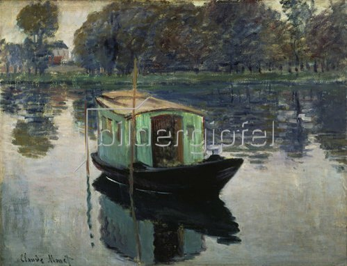 Claude Monet: Das Atelierboot. 1874