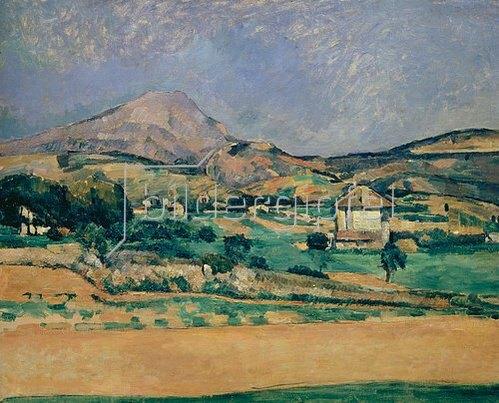 Paul Cézanne: Blick zum Montagne Sainte-Victoire. 1882/85.