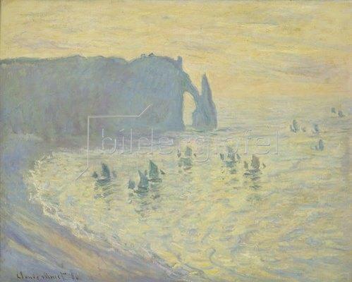 Claude Monet: Die Felsen von Etretat. 1883/86