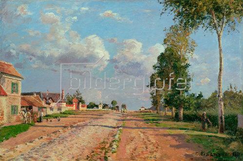 Camille Pissarro: Route de Versailles, Rocquencourt. 1871.