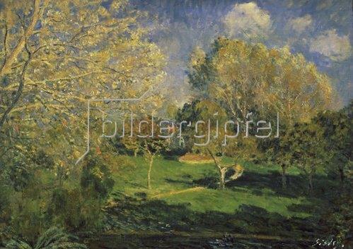 Alfred Sisley: Der Garten von Monsieur Hoschedé in Montgeron. 1881