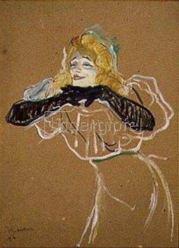 Henri de Toulouse-Lautrec: Die Chanteuse Yvette Guilbert singt Linger Longer Loo. 1894.