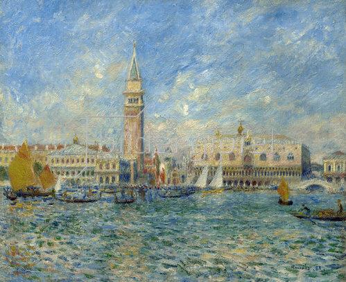 Auguste Renoir: Venedig Dogenpalast. 1881