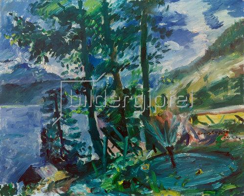 Lovis Corinth: Walchensee mit Springbrunnen. 1923