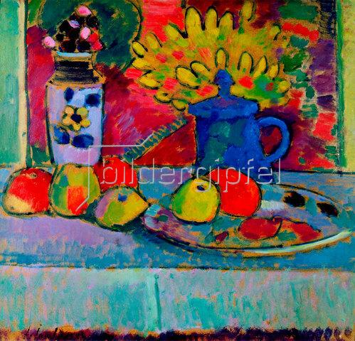 Alexej von Jawlensky: Stillleben mit Blumen und Früchten. Um 1910