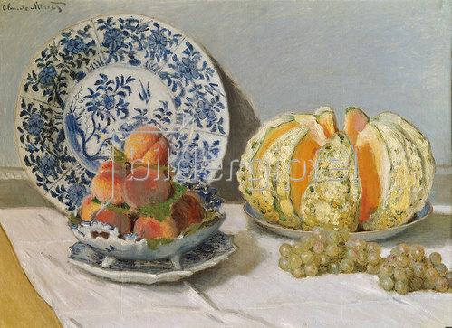 Claude Monet: Stillleben mit Melone 1872
