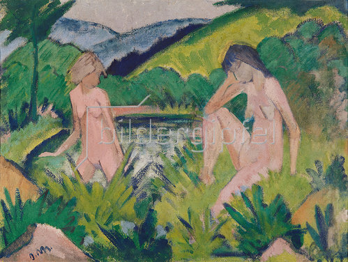 Otto Müller: Mädchen am Wasser
