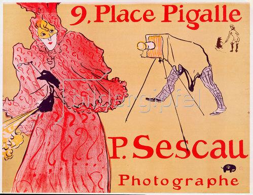 Henri de Toulouse-Lautrec: 9. Place Pigalle - P. Sescau, Photographe.
