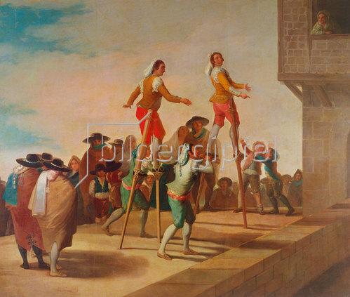 Francisco José de Goya: Die Stelzen (Los Zancos). 1791-92