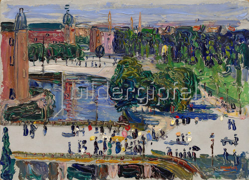 Wassily Kandinsky: Amsterdam - Blick aus dem Fenster. 1904