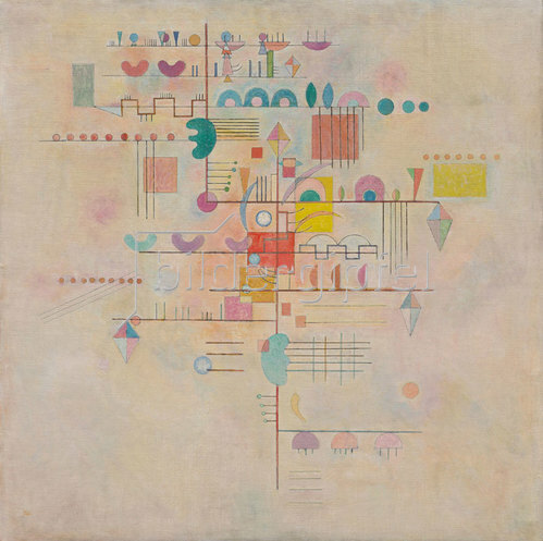 Wassily Kandinsky: Zarter Aufstieg (Montée gracieuse). 1934
