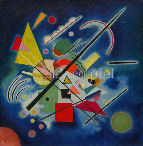 Wassily Kandinsky: Blaues Bild. 1924
