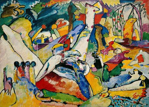 Wassily Kandinsky: Skizze für 'Komposition II'. 1909-10