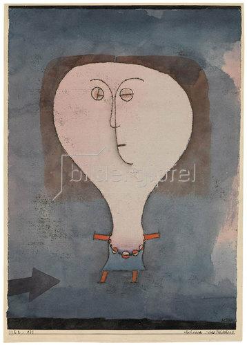 Paul Klee: Schreck eines Mädchens. 1922